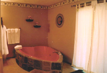 Whirlpool tub in the honymoon cabin at In the Smokies Weddings in Pigeon Forge and Gatlinburg, Tennessee